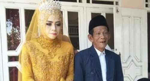 인도네시아 83세 남성과 27세 여성 결혼. [콤파스=연합뉴스]