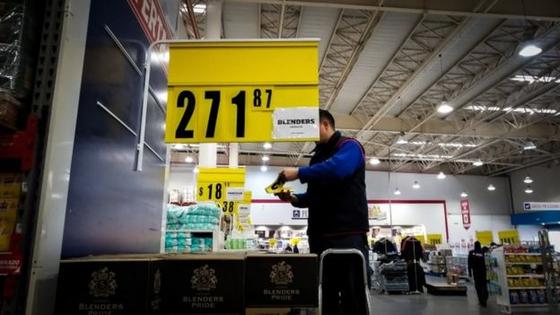 아르헨티나 부에노스아이레스의 한 대형 식료품점의 모습. [EPA=연합뉴스]
