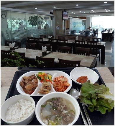 대학교 식당들의 시설이 예전보다 훨씬 고급스럽게 개선된 것 같다. 전북대의 <진수원>과 정갈하고 맛있던 5천 원짜리 백반. [사진 박헌정]