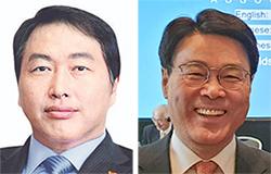 최태원 SK그룹 회장(左), 최정우 포스코그룹 회장(右)