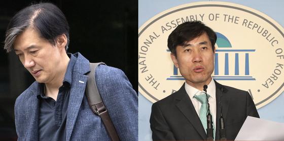 조국 법무부 장관 후보자, 하태경 바른미래당 의원. [연합뉴스]