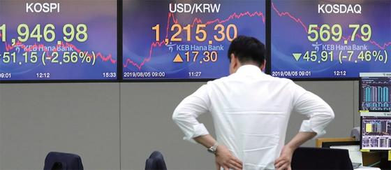 저금리 시대에 안전자산은 존재하지 않는다. 증시는 폭락하고, 환율은 급등하는 등 한국 경제의 변동성이 커지고 있다. / 사진:연합뉴스