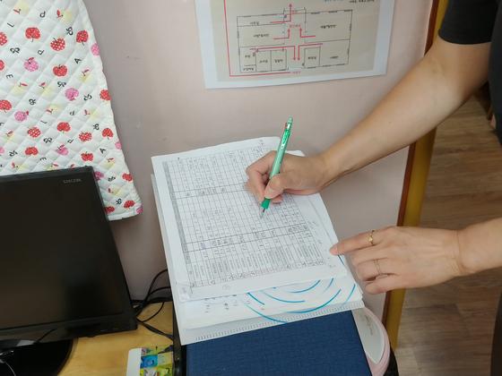 지난달 29일 오전 서울 영등포구에 위치한 영삼어린이집에서 영등포구청 직원들이 실내공기질을 측정하고 있다. 박해리 기자