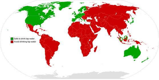 수돗물 안전한 국가. [사진 미국질병통제예방센터]