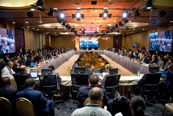 지난달 30일(현지시간) 칠레 푸에르토 바라스에서 개최된 아시아태평양경제협력체(APEC) 제3차 고위관리회의(SOM). [사진 외교부]