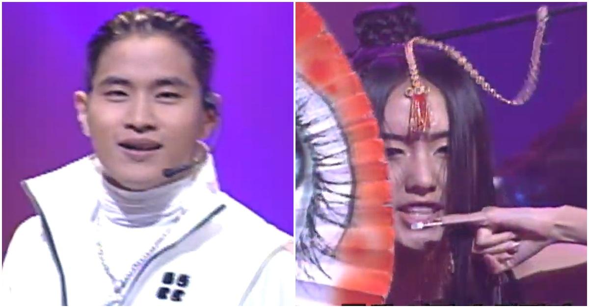 1990년대 가수 유승준(왼쪽)과 이정현. [SBS 유튜브 캡처]