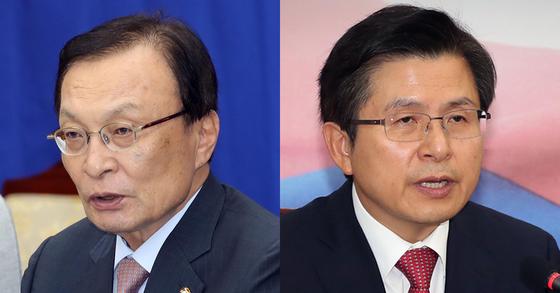 이해찬 더불어민주당 대표(왼쪽)과 황교안 자유한국당 대표. [연합뉴스]