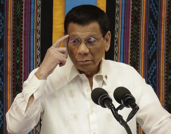 로드리고 두테르테 필리핀 대통령. [AP=연합뉴스]