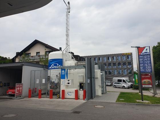 독일 린데그룹이 뮌헨 근교에 설치한 액화수소충전소. [뮌헨=김도년 기자]