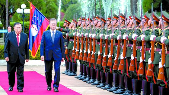 한국 대통령, 라오스 첫 국빈 방문