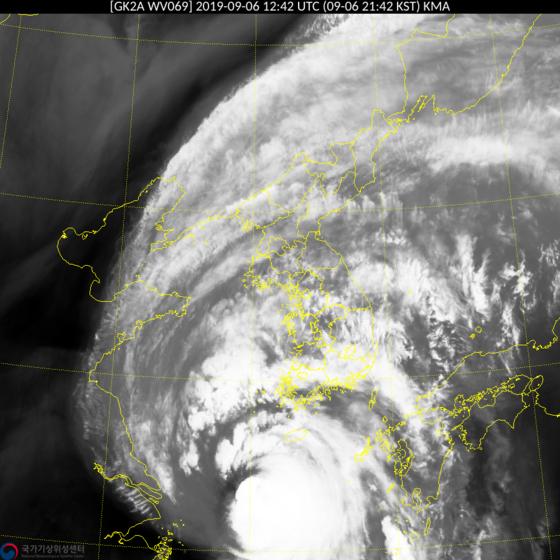 9월 6일 오후 9시42분 께 태풍 링링 [기상청]
