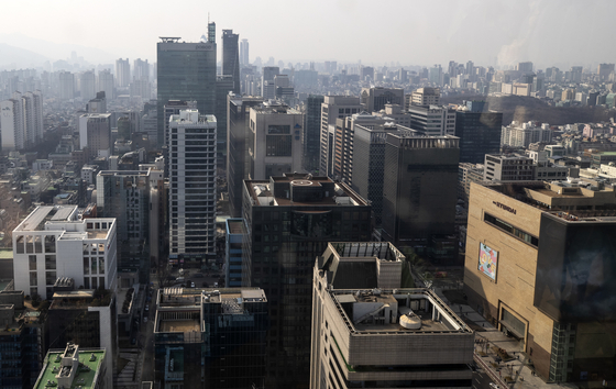 서울 강남구 테헤란로의 상업용 빌딩들 [연합뉴스]