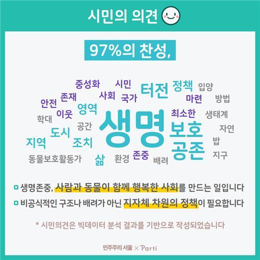 서울시는 '민주주의 서울' 홈페이지에서 시민 토론을 통해 길고양이 보호에 대한 시민 의견을 수렴해 보호에 앞장서겠다고 밝혔다. [자료 서울시]