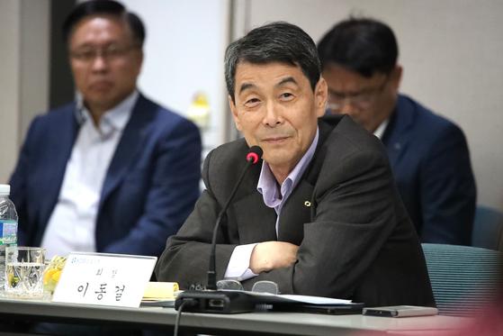 10일 취임 2주년 기자간담회에 참석한 이동걸 산업은행 회장. [산업은행]