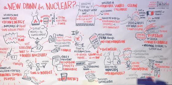 150여개국이 일제히 집결한 세계에너지총회에서 원자력발전이 에너지 전환의 핵심이라는 데 큰 이견이 없었다. 아부다비 = 문희철 기자.