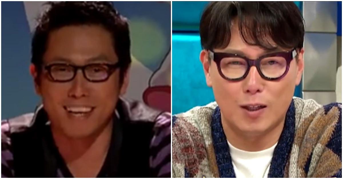 윤종신 '라디오스타' 과거 방송 진행 모습(왼쪽)과 현재. [MBC 캡처]