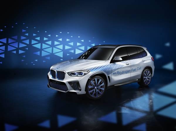 BMW가 선보인 첫 수소전기차 콘셉트카. 일본 도요타가 개발한 수소연료전지 시스템을 바탕으로 개발했다. BMW그룹은 2022년 X5 기반의 차세대 수소전기차를 내놓을 예정이다. [사진 BMW그룹]