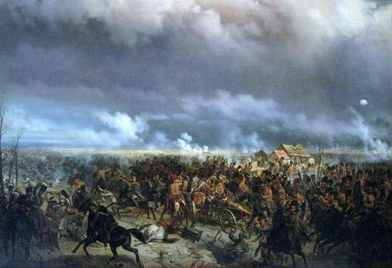 그로코프 전투. 러시아의 압제에 반발하여 1830년 일어난 '11월 봉기' 기간 중의 마지막이면서 가장 큰 전투였다. 유화, 1850년경. 폴란드 육군 박물관 소장 [사진 Wikimedia Commons (Public Domain)]