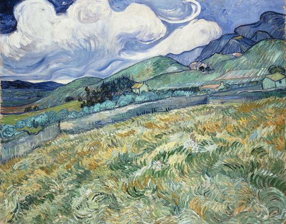 Vincent Van Gogh, Mountain Landscape Seen across the Walls, 1889, Oil on Canvas, 70.5 x 88.5 cm [출처 박보미]
