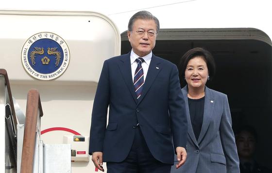 문재인 대통령과 김정숙 여사. [연합뉴스]