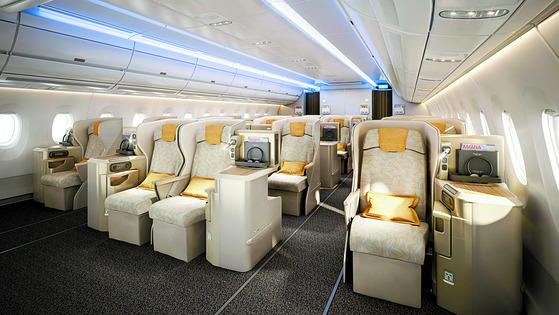 아시아나항공 최신형 항공기 A350-900 실내 [아시아나항공]