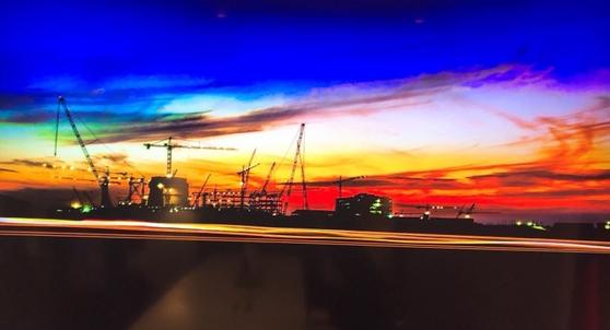 아랍에미레이트(UAE)에 한국 기술로 건설 중인 바라카 원전. 아부다비 = 문희철 기자