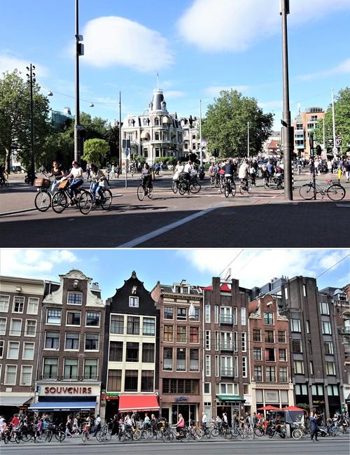 암스테르담은 도심을 이루는 독특한 건축물과 자동차보다 많은 자전거에 가장 먼저 눈이 간다. 양복을 입고 자전거로 출근하는 많은 시민들을 볼 수 있다. [사진 강하라, 심채윤]