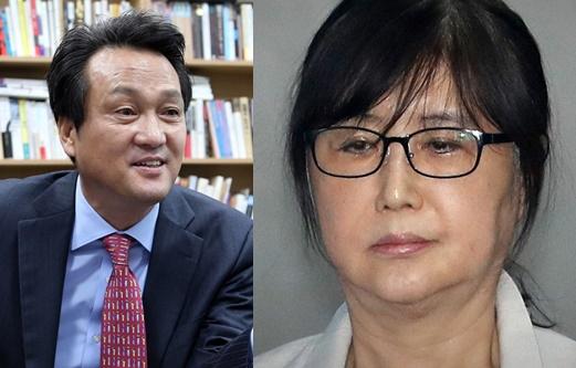 안민석 더불어민주당 의원(좌), 최순실씨(우) [중앙포토]