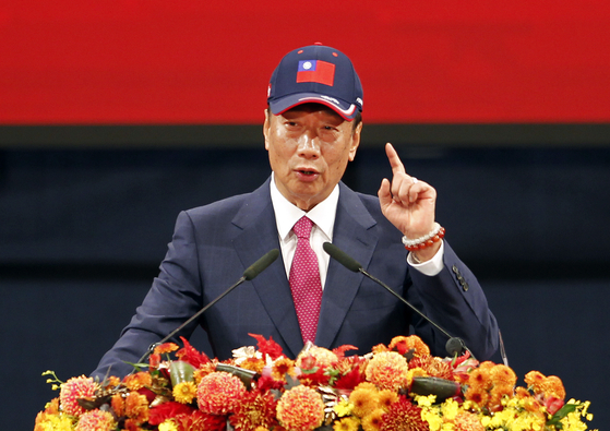 궈타이밍 전 홍하이정밀공업 그룹 회장이 2020년 대만 총통 선거 불출마를 선언했다. [AP=연합뉴스]