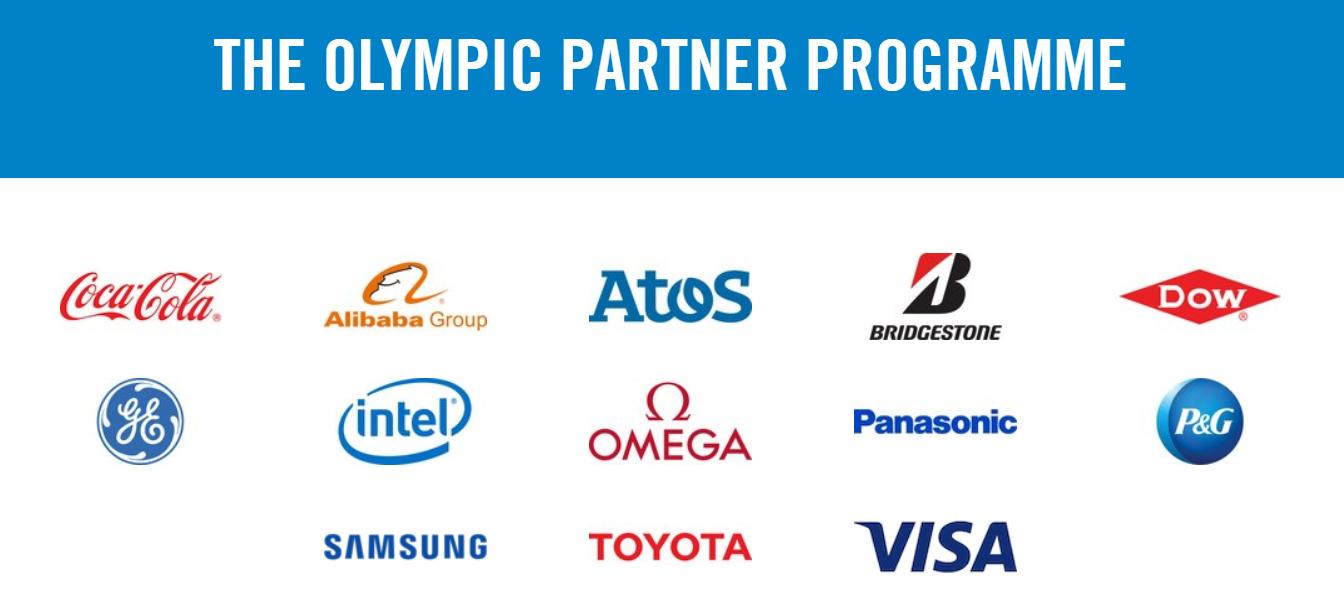 올림픽 최상위등급 공식 후원사. 13개 중 일본이 3개, 한국이 1개다. [IOC 홈페이지 캡처]