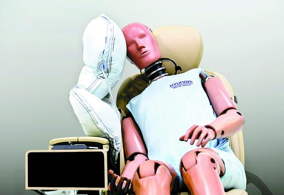 [사진] 현대·기아차 좌석 사이에도 에어백