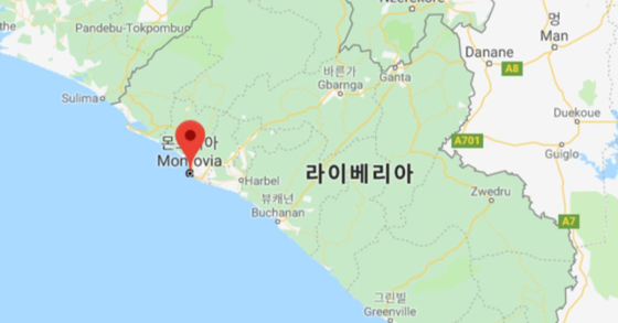 18일(현지시간) 라이베이라 수도 몬로비아의 코란학교에서 불이 나 어린 학생 30여명이 숨졌다고 로이터통신 등이 보도했다. [사진 구글 지도 캡처]