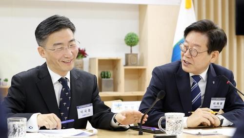 이국종 교수(왼쪽)와 이재명 지사. [연합뉴스]