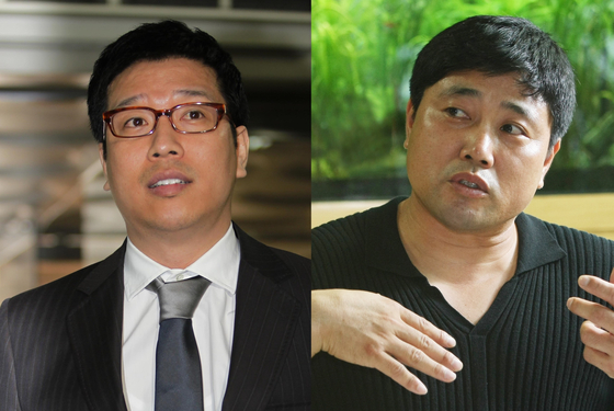 강병규(왼쪽)와 양준혁. [일간스포츠]