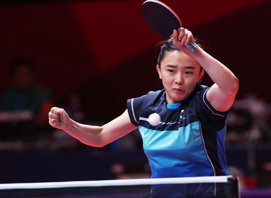 탁구 혼합복식, 중국에 분패...아시아선수권 결승행 좌절