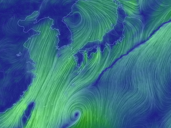 제 35호 열대저압부. 태풍으로 발달할 경우 2019년 한반도에 영향을 끼치는 6번째 태풍이 된다. [자료 기상청]
