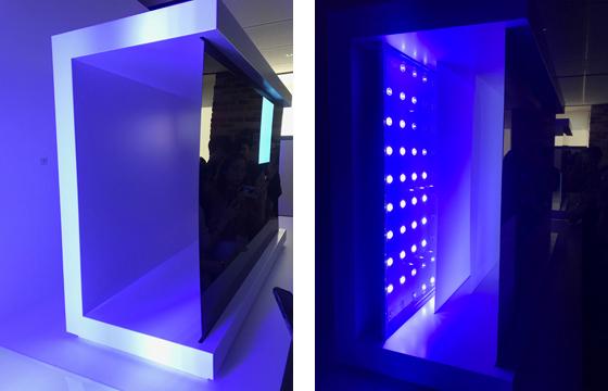 백라이트가 필요없이 패널만 있으면 화면을 내보낼 수 있는 LG의 OLED TV(왼쪽), 백라이트가 빛을 내면 LCD 패널이 이를 받아들여 화면을 내보내는 삼성 QLED TV. 김영민 기자