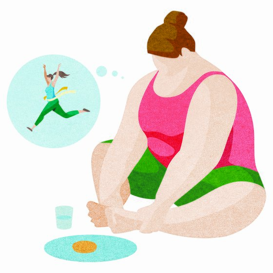 비만인 사람의 이미지.[중앙포토]