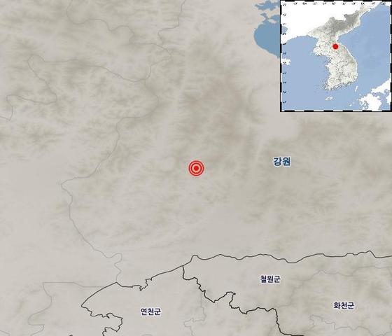 21일 지진 발생지점 [자료 기상청]