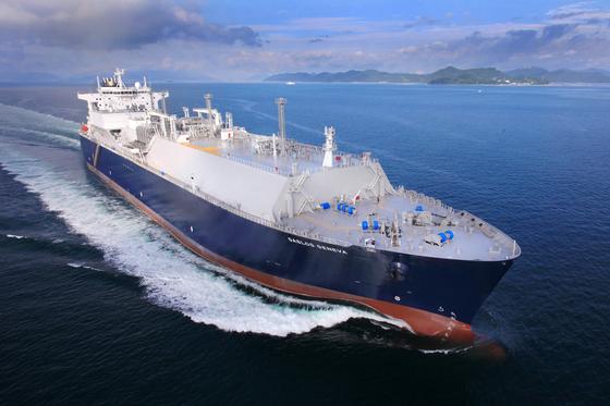 삼성중공업이 건조한 LNG 운반선. [사진 삼성중공업]