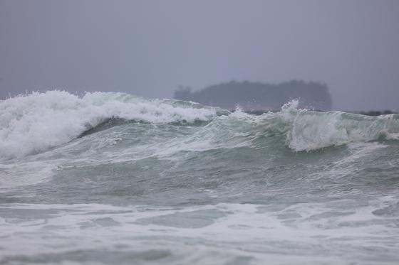 제17호 태풍 '타파'가 북상 중인 21일 제주 서귀포시 예래동 해상에 높은 파도가 몰아치고 있다. [연합뉴스]