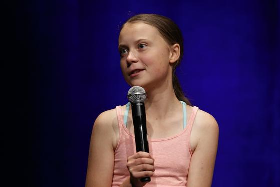 스웨덴의 10대 환경운동가 그레타 툰베리. [AP=연합뉴스]