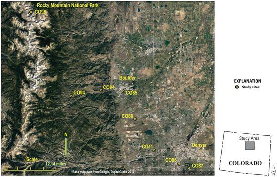 미 지질조사국(USGS)의 빗방울 표본 채취 지점. [사진 USGS 홈페이지]