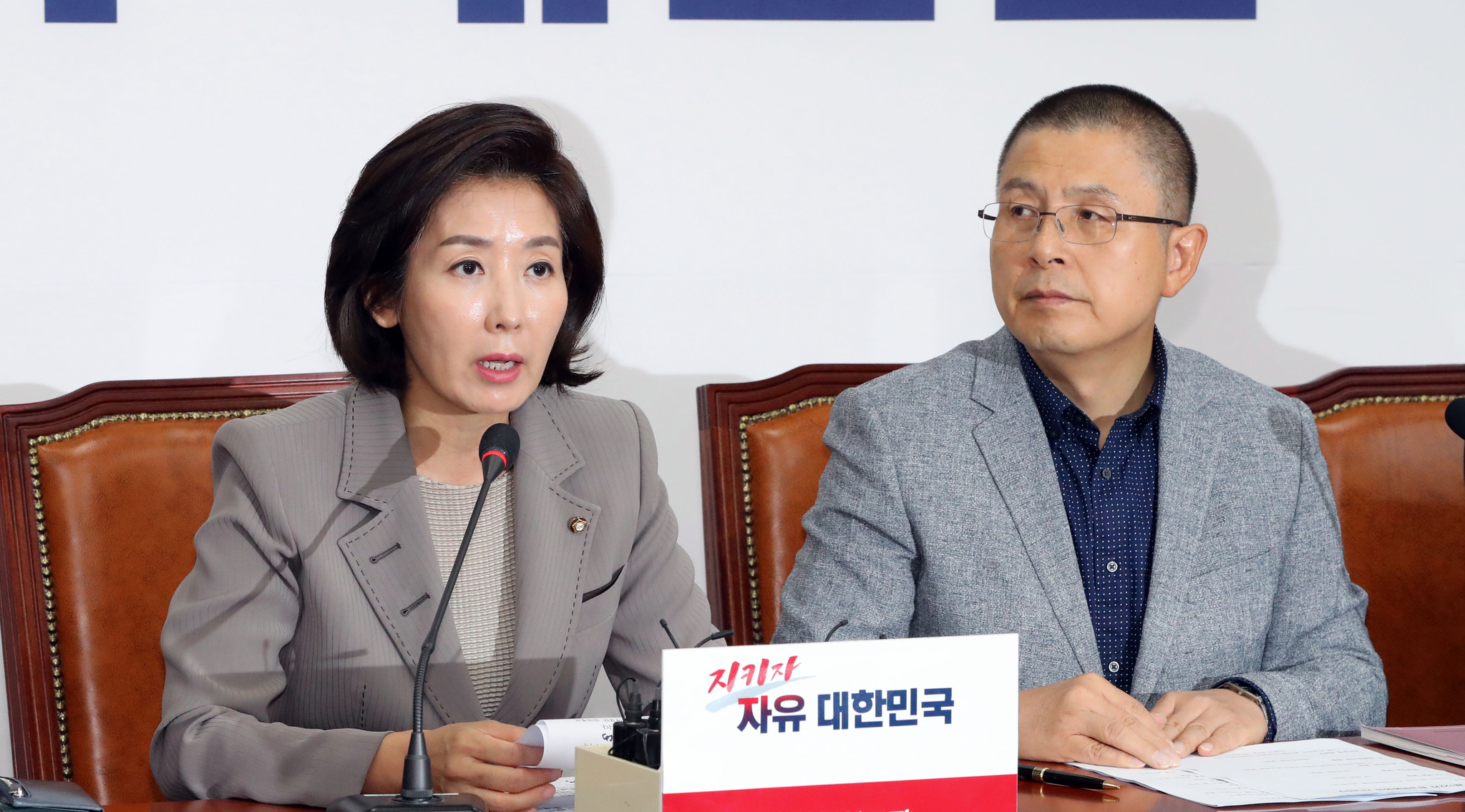 """나경원 """"수없이 얘기했는데…아들 원정출산·이중국적 아냐"""""""
