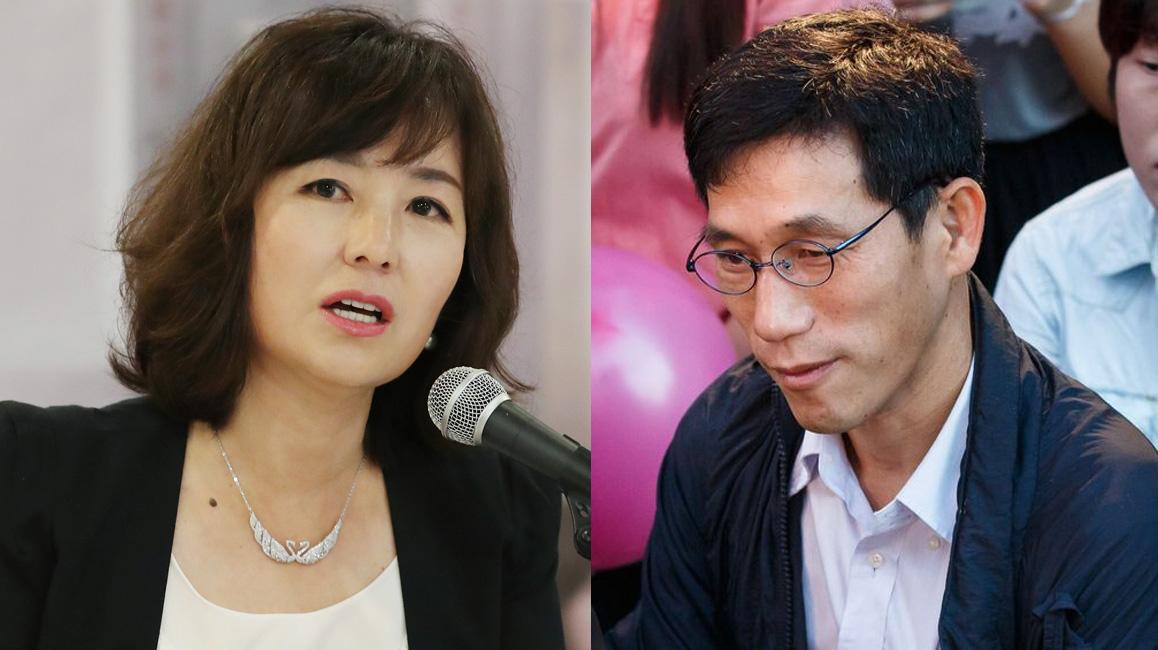 소설가 공지영(왼쪽)과 진중권 교수. [연합뉴스, 뉴스1]