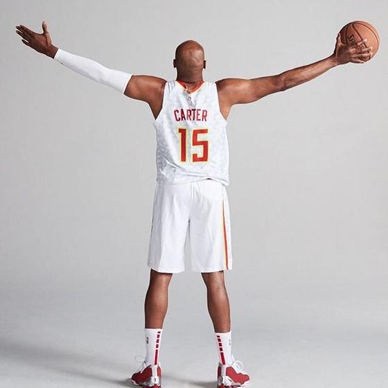 빈스 카터는 NBA 최초로 22번째 시즌을 뛴다. [사진 애틀란타 호크스 인스타그램]