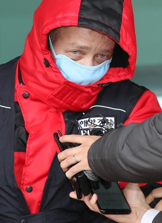 지난 2월 광안대교 충돌사고를 일으킨 러시아 화물선 씨그랜드호 선장. 송봉근 기자