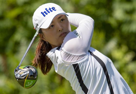 캐나다 퍼시픽 여자오픈에서 LPGA 투어 시즌 4승을 달성한 고진영. [AP=연합뉴스]