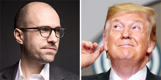 설즈버거 NYT 발행인(왼쪽)과 트럼프 대통령. [AP·UPI=연합뉴스]