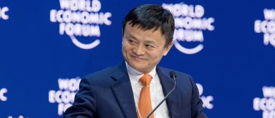 2018 다보스 포럼(2018 World Economic Forum in Davos)에서의 마윈 ⓒMedium